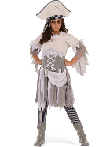 Girls Ghostly Pirate Costume