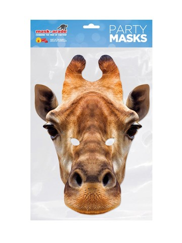 Giraffe Facemask Costume Accessory