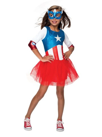 Child Metallic American Dream Dress Costume