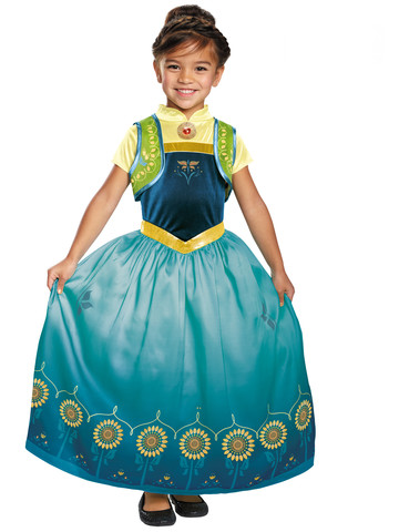 Girls Anna Frozen Fever Deluxe Costume