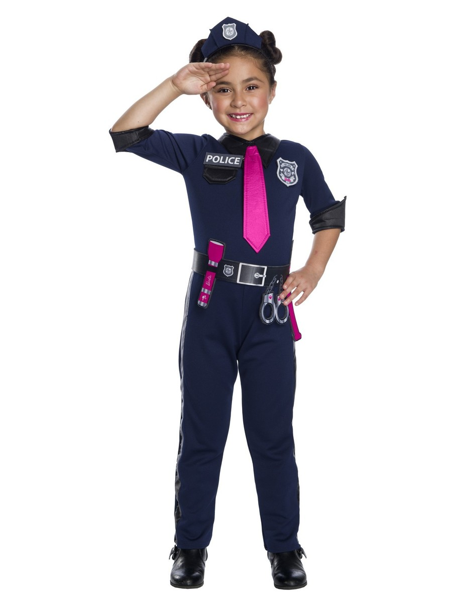 View larger image of Girls Barbie Police Officer Costume