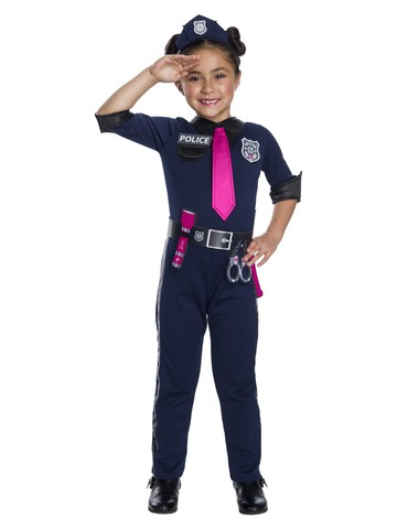 Girls Barbie Police Officer Costume