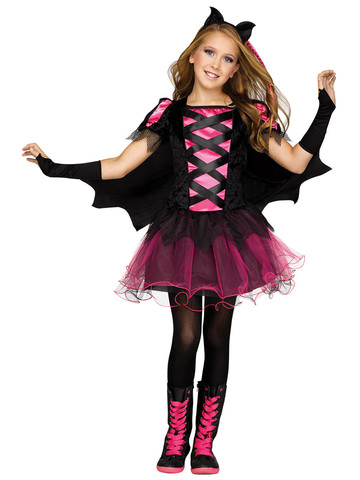 Girls Bat Queen Costume