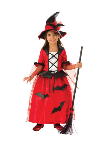 Girls Bat Witch Costume