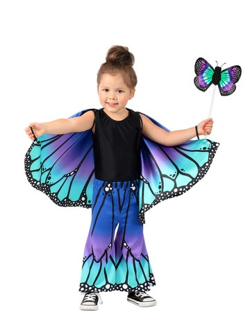 Girl's Blue Butterfly Pants