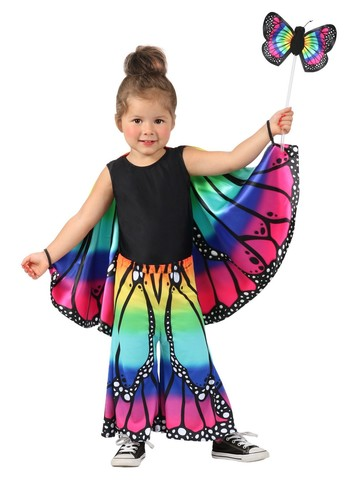 Girl's Rainbow Butterfly Pants