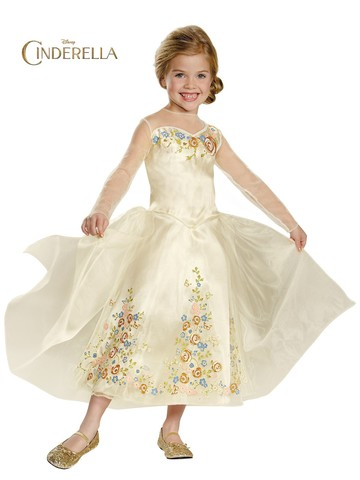 Girls Cinderella Movie Deluxe Wedding Dress