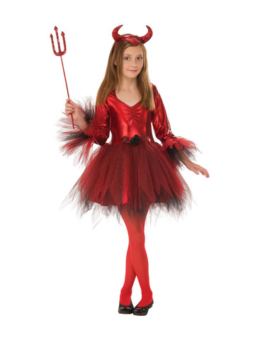 Zombie Gymnast Halloween Costume.Girls Classic Devil Costume