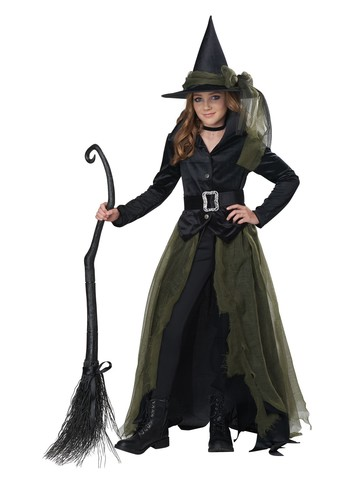 Girl's Cool Witch Halloween Costume