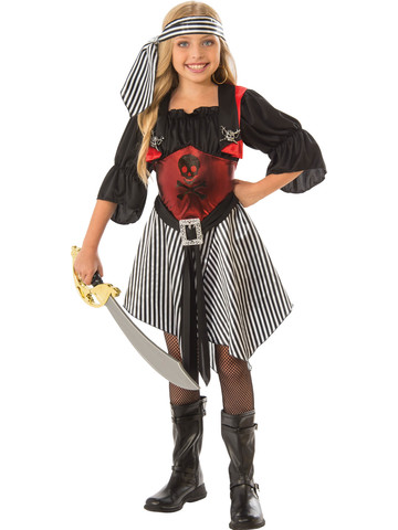 Crimson Girls Pirate Costume