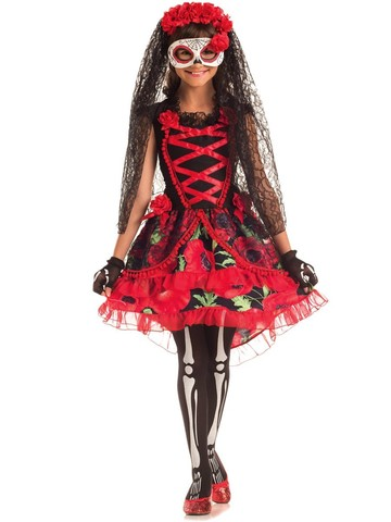 Girls Day of the Dead Senorita Costume
