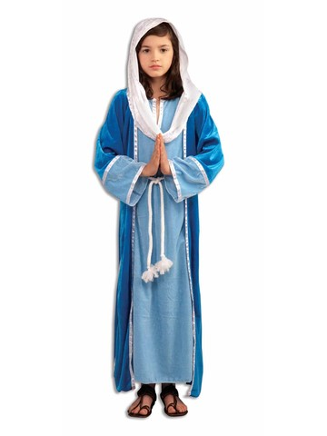 Girls Deluxe Mary Costume with Rope Belt
