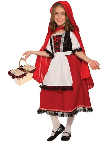 Girl's Fairytale Collection Deluxe Red Riding Hood Costume