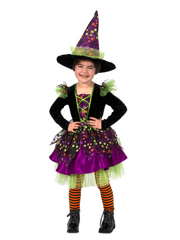 Girls Dotty The Witch Costume