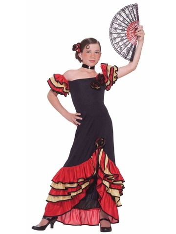 Girl's Spanish Flamenco Dress
