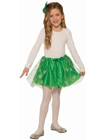 Green Sparkle Skirt for Girls