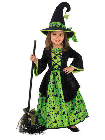Green Witch Costume for Girls
