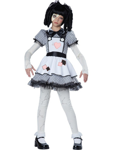 Girl's Haunted Doll Costume