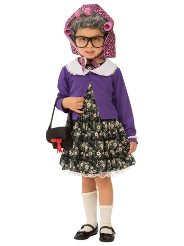Little Old Lady Costume for Girls