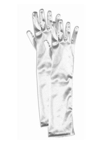 Long White Elbow Gloves Child