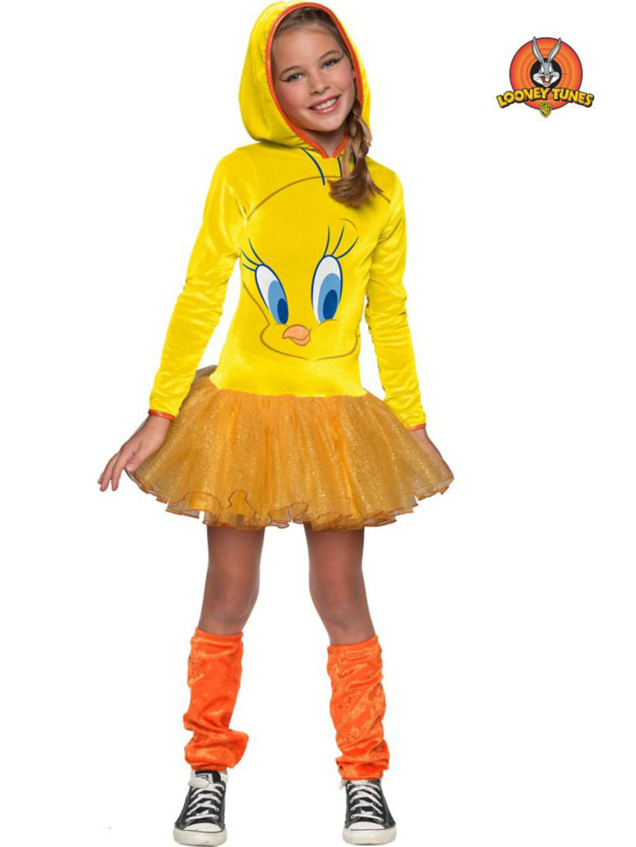 View larger image of Girls Looney Tunes Tweety Hooded Costume