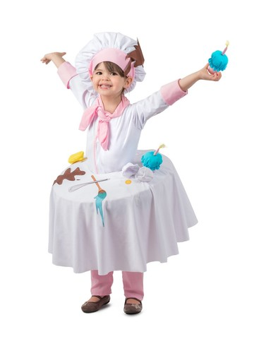Messy Baker Girl's Tabletop Costume