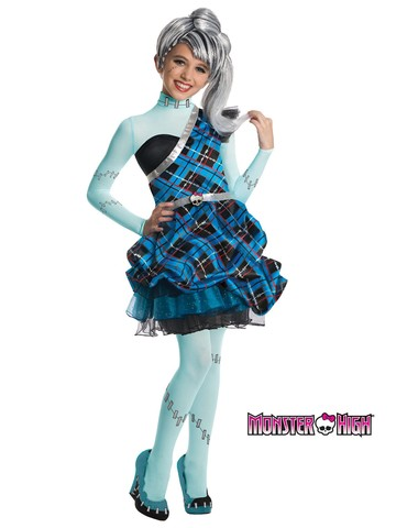 Girls Monster High Frankie Stein Sweet 1600 Deluxe Costume