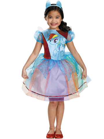 Girls My Little Pony Rainbow Dash Deluxe Costume