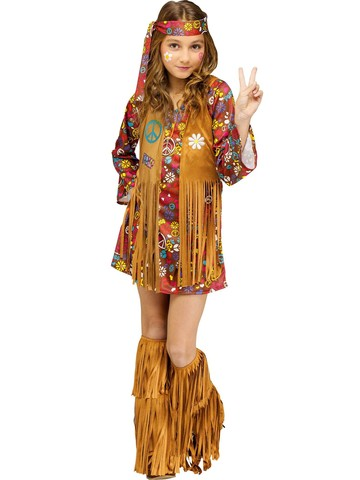 Girls Peace & Love Hippie Costume