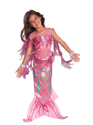 Girls Pink Mermaid Costume