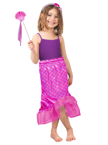 Pink Mermaid Skirt Set Costume for Girls