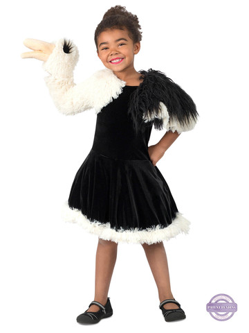 Playful Puppet Ostrich Costume for Girls