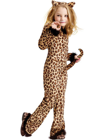 Girls Pretty Leopard Child Costume
