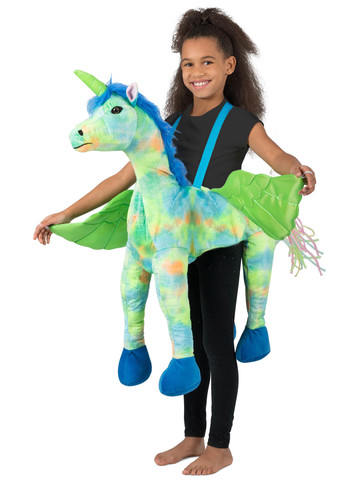 Rainbow Unicorn Ride-In Costume for Girls
