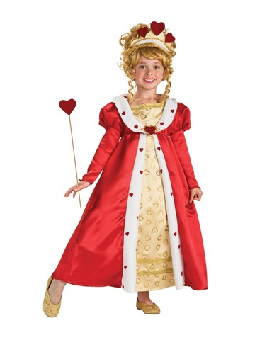 Girls Red Heart Princess Child Costume