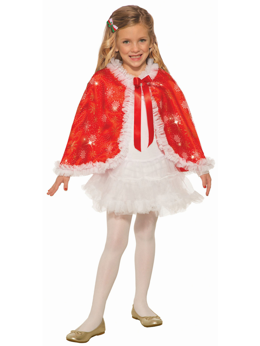 View larger image of Red Sparkle Cape for Girls
