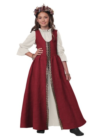Renaissance Fair Dress Girls Costume
