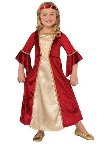 Girl's Middle Ages Lady in Red Costume