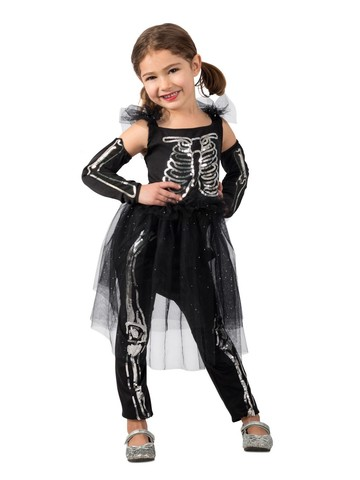 Girl's Sequin Skeleton Costume