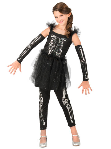 Sequin Skeleton Costume for Girls