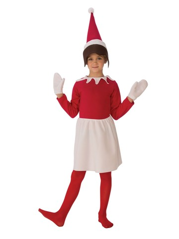 Girl Sitting Elf Costume