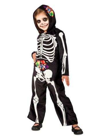 Skelly Belly Girls Costume for Kids