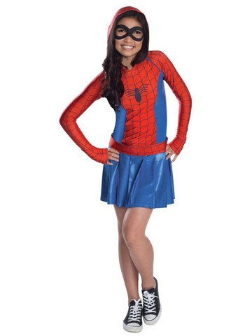 Spider Girl Hooded Dress Girls Costume
