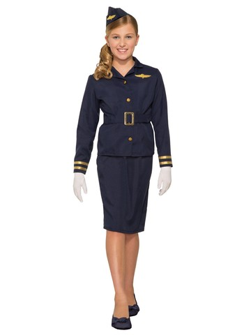 Girl's Airforce Stewardess Costume