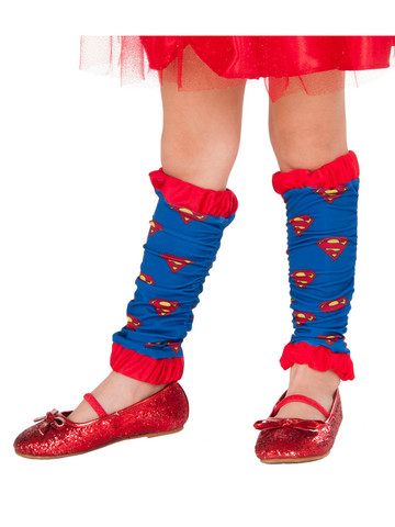 Red and Blue Supergirl Leg Warmers for Girls