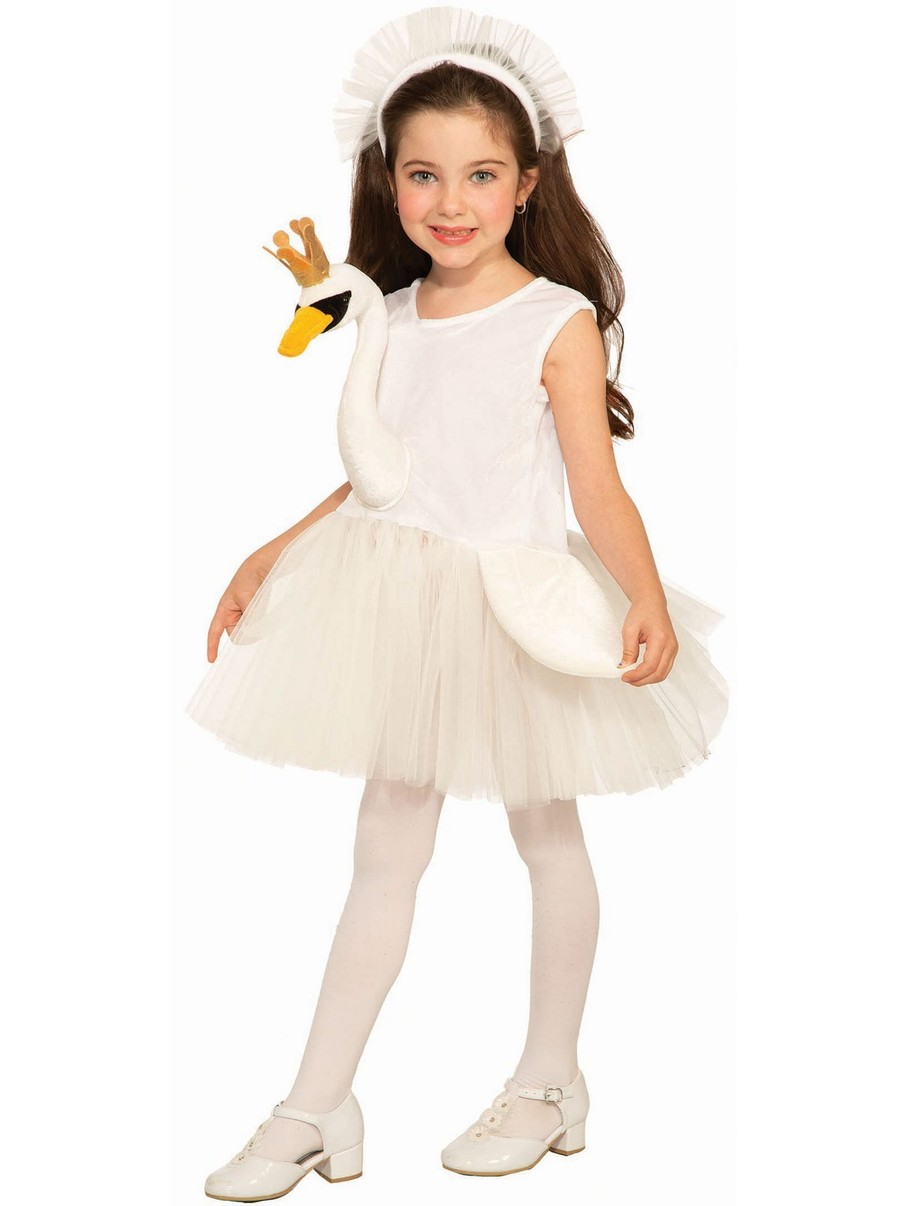 View larger image of Ballerina Swan Costume for Girls