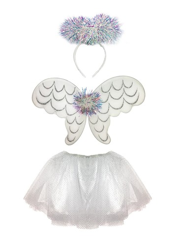 Girl's Tinsel Angel Skirt Set Costume