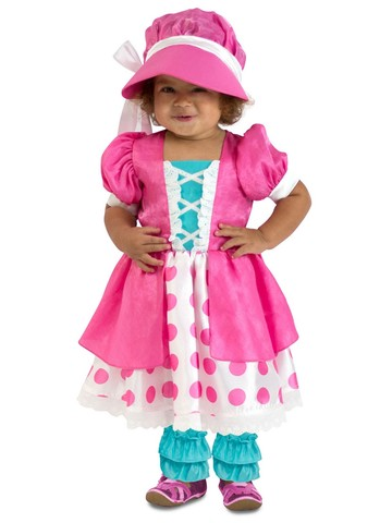 Girl's Polka Dot Bo Peep Toddler Costume