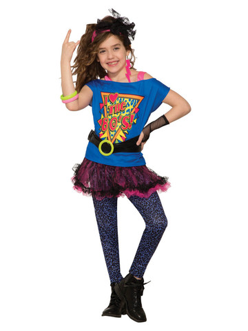 Totally 80s Girls Costume