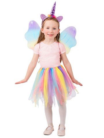 Girl's Unicorn Skirt Set Costume
